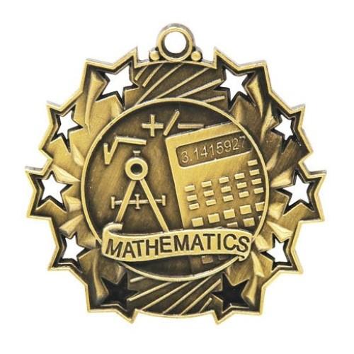 Ten Star Maths Medal